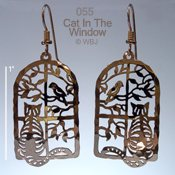 Cat in the Window Earrings