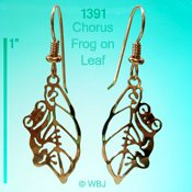 Chorus Frog w/ Leaf Earrings