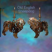 Old English Sheepdog Earrings