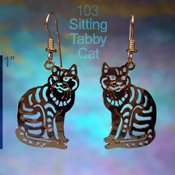 Sitting Tabby Earrings
