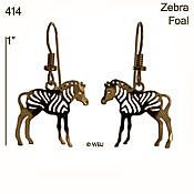 Baby Zebra Earrings