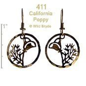 Wild Bryde California Poppy Earrings