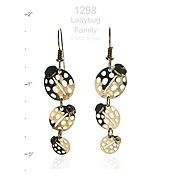 Ladybug Family Earrings