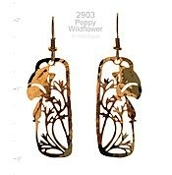 Wildflower Poppy Earrings