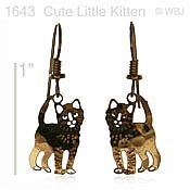 Cute Li'l Kitty Earrings