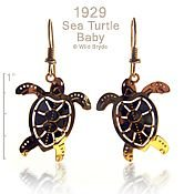 Baby Sea Turtle Earrings