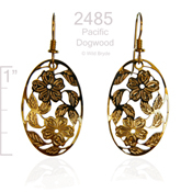 Oval Dogwoods Earrings