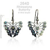Radiant Monarch earrings with Swarovski Rhinestones