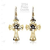 Poppy Cross Earrings