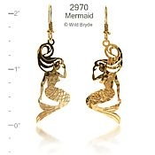 Sitting Mermaid Earrings