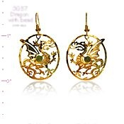 Celtic Dragon Earrings
