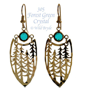 Forest with Crystal Earrings