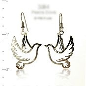Flying Peace Dove Earrings