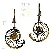 Small Spiral Shell Earrings