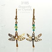 Dragonfly with Crystals