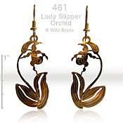 Ladyslipper Orchid Earrings